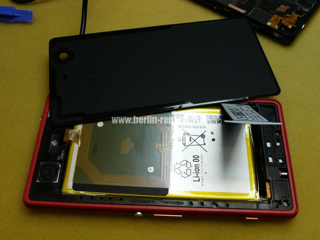 Sony Xperia Z3, LCD Display Defekt, umbau Black Orange (20)