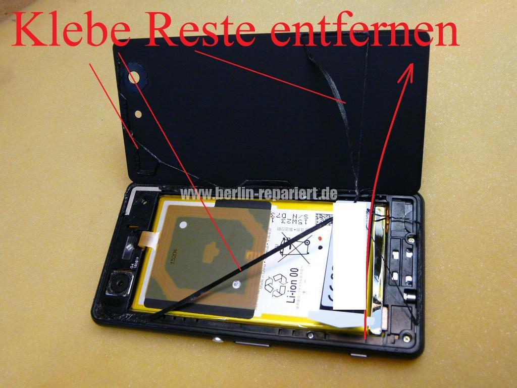 Sony Xperia Z3, LCD Display Defekt, umbau Black Orange (44)