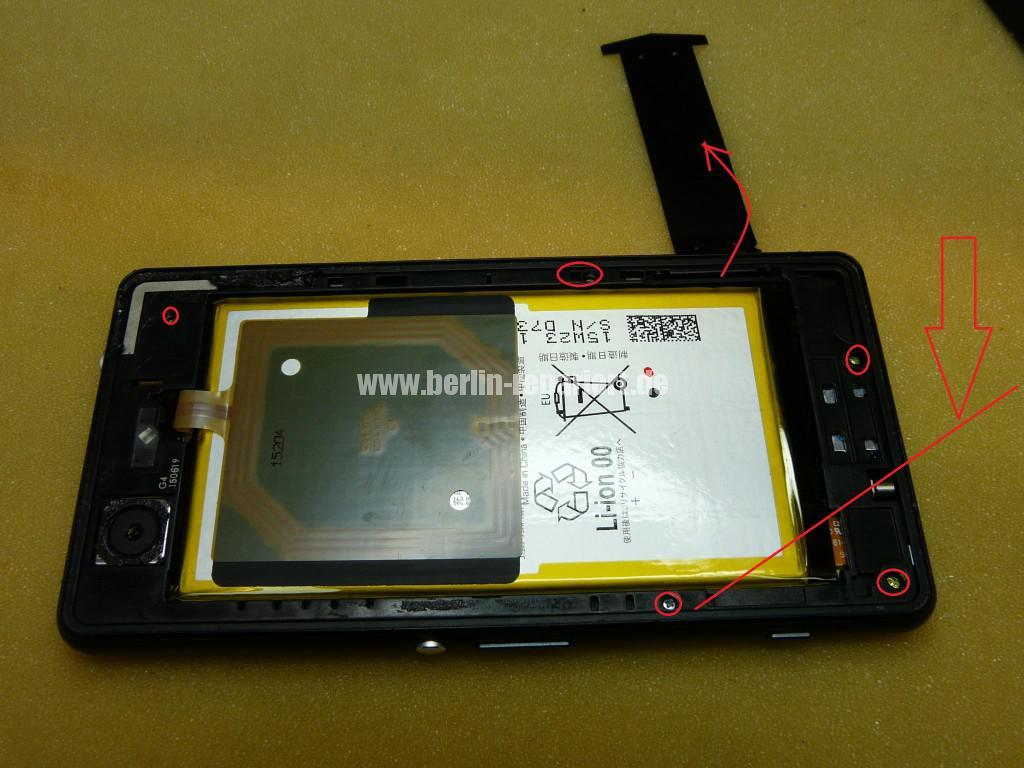 Sony Xperia Z3, LCD Display Defekt, umbau Black Orange (5)