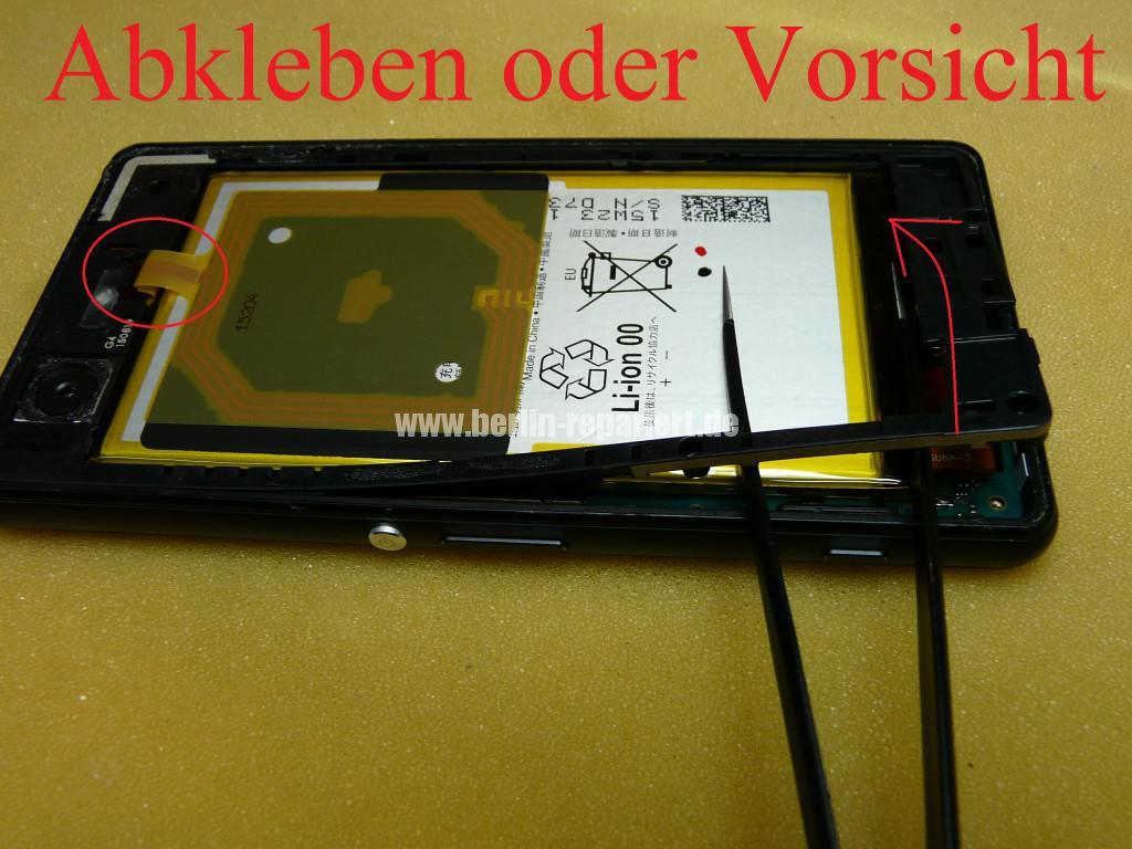 Sony Xperia Z3, LCD Display Defekt, umbau Black Orange (6)