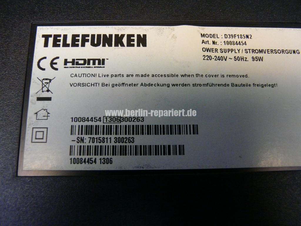 Telefunken Qualität, D39F152 kein Bild (14)