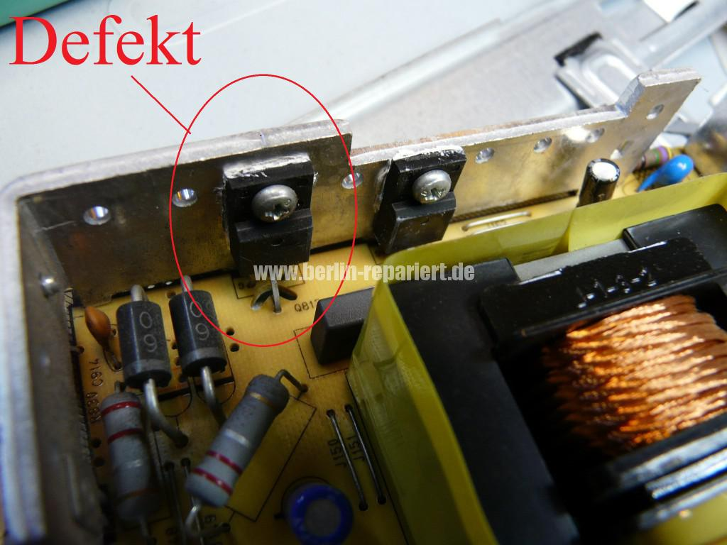 Telefunken T40R906, keine Funktion, Netzteil Defekt (10)