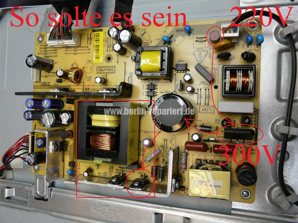 Telefunken T40R906, keine Funktion, Netzteil Defekt (4)