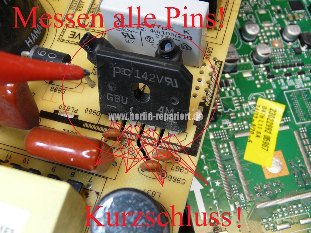 Telefunken T40R906, keine Funktion, Netzteil Defekt (6)