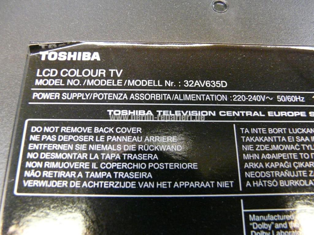 Toshiba 32AV635DG, geht Aus, geht nicht An (6)