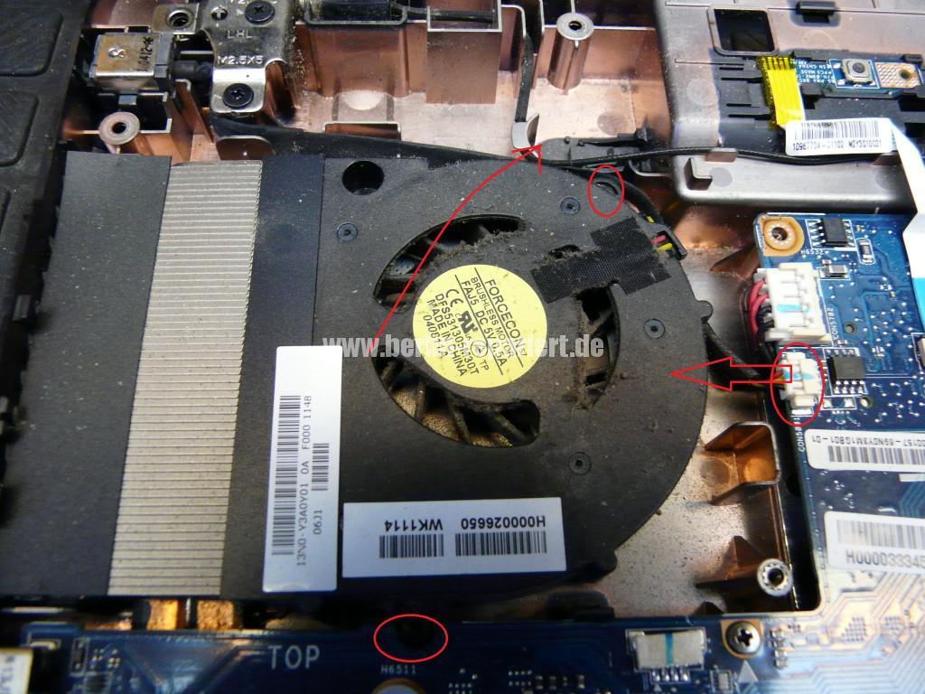 Toshiba Satellite L755, sehr langsam, Lüfter reinigen (8)