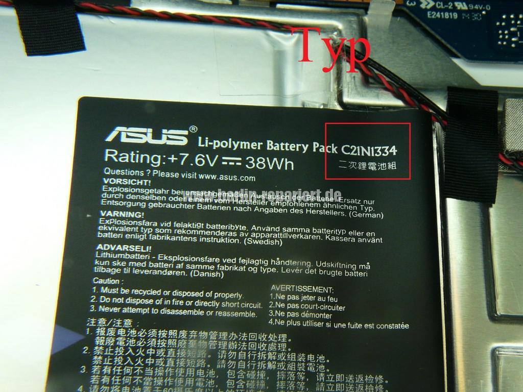 ASUS T200TA, zeigt Akku leer, geht nicht an (11)