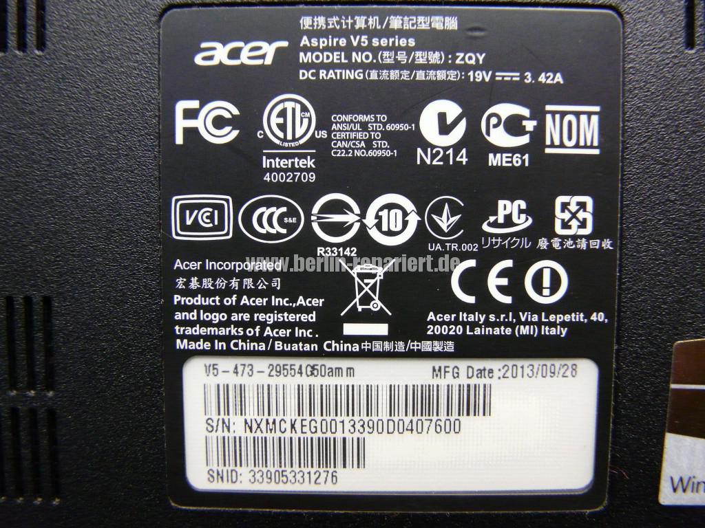 Acer Aspire V5 mit defekte Seagate ST500L (11)