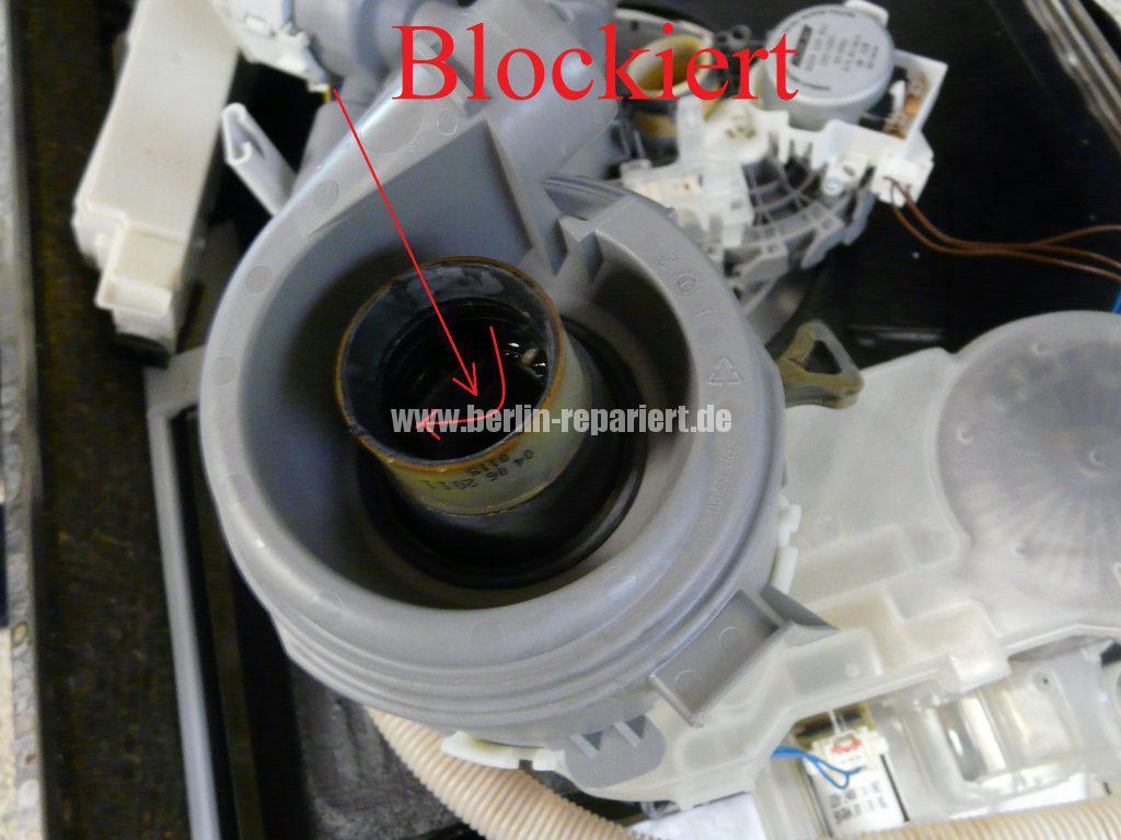Bosch SMU50E85, Pumpe läuft nicht an, Störung (2)