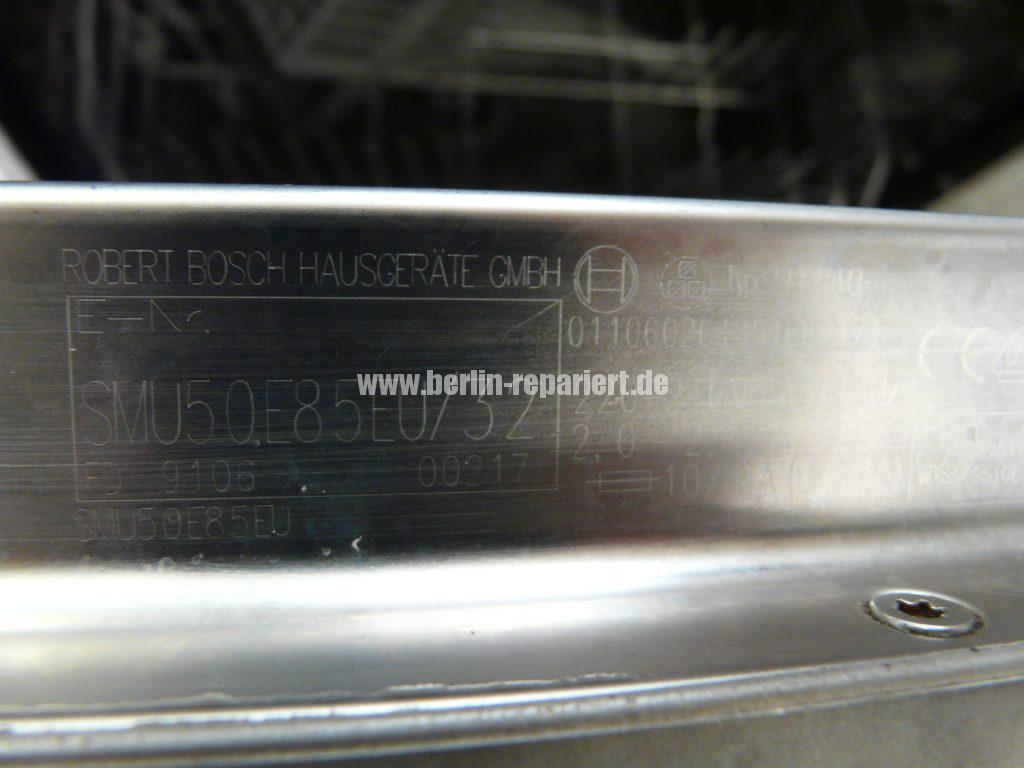 Bosch SMU50E85, Pumpe läuft nicht an, Störung (8)