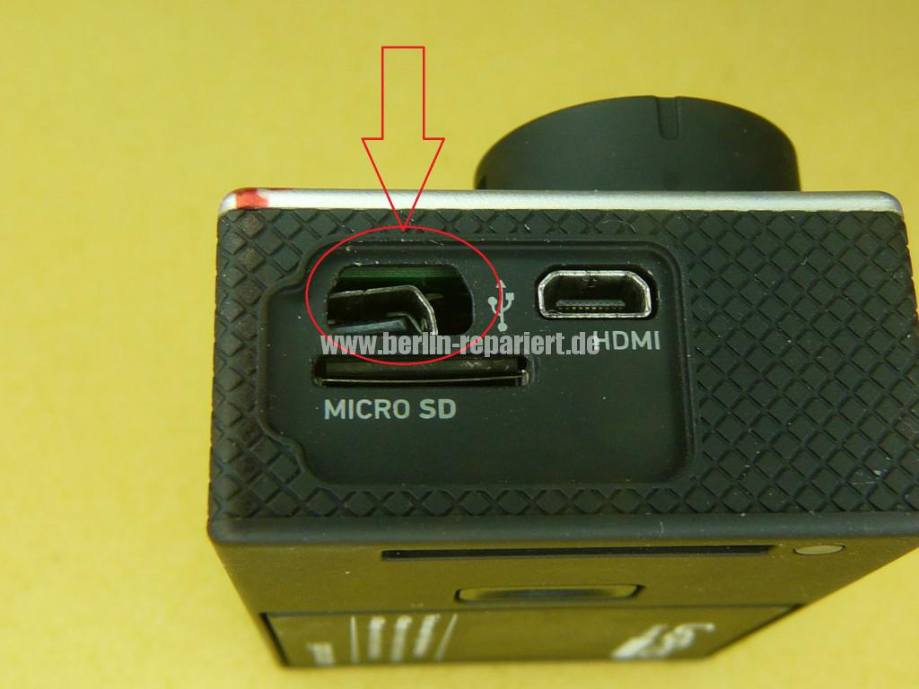 GoPro Hero 3, USB Defekt (2)