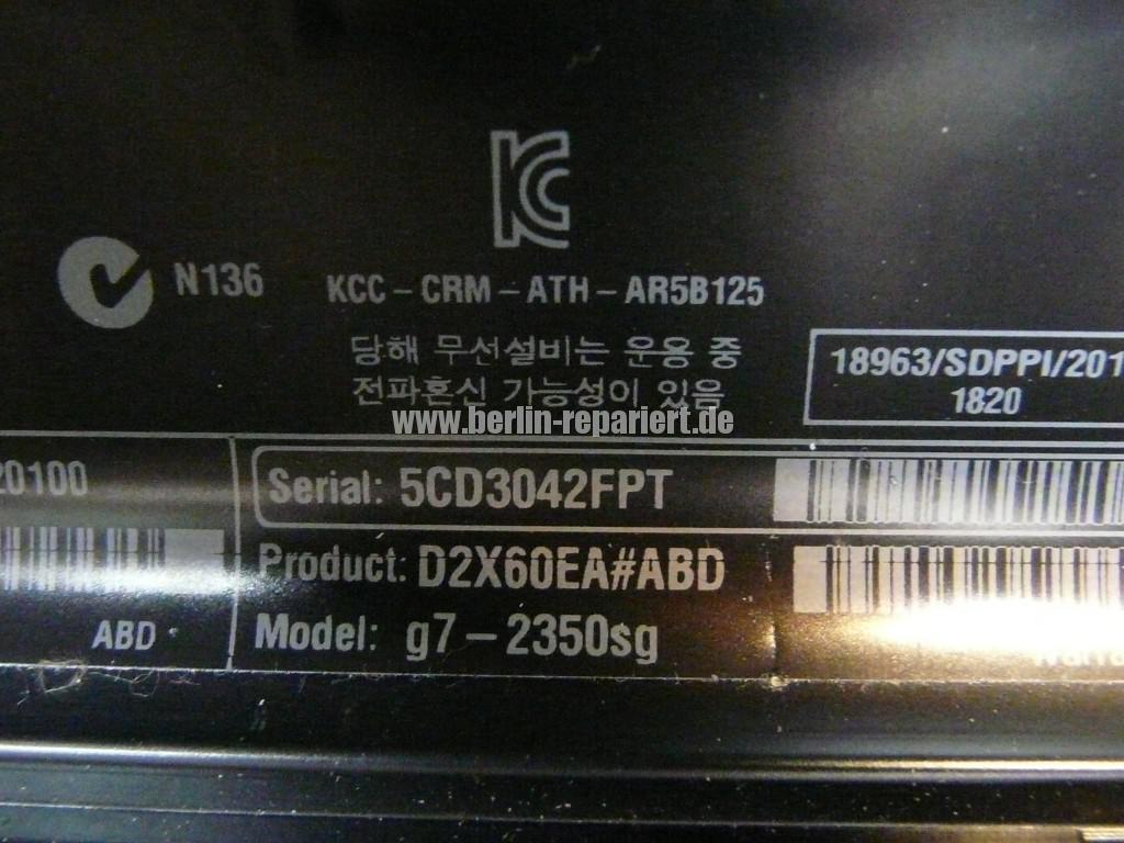 HP Pavilion G7, Tastatur defekt (9)
