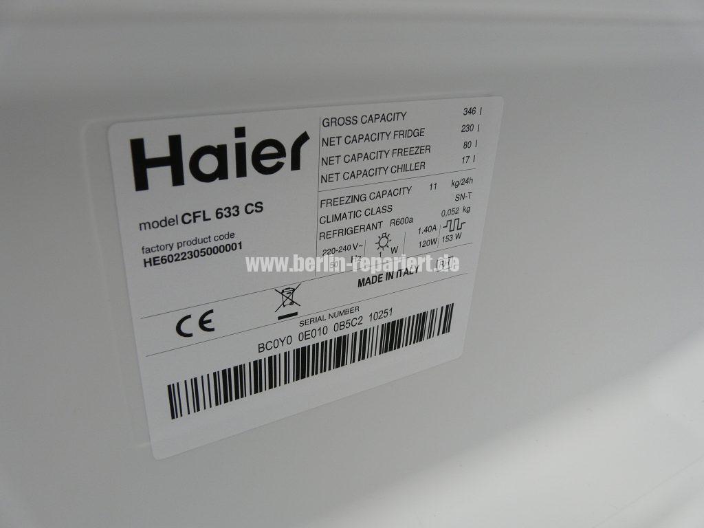 Haier CFL 633, von wegen No Frost, Kühlfach kühlt nicht (3)