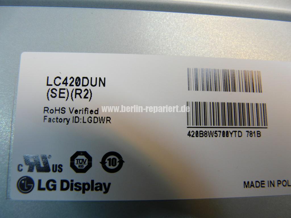 LG Qualität Display LC420DUN, LED Defekt (13)