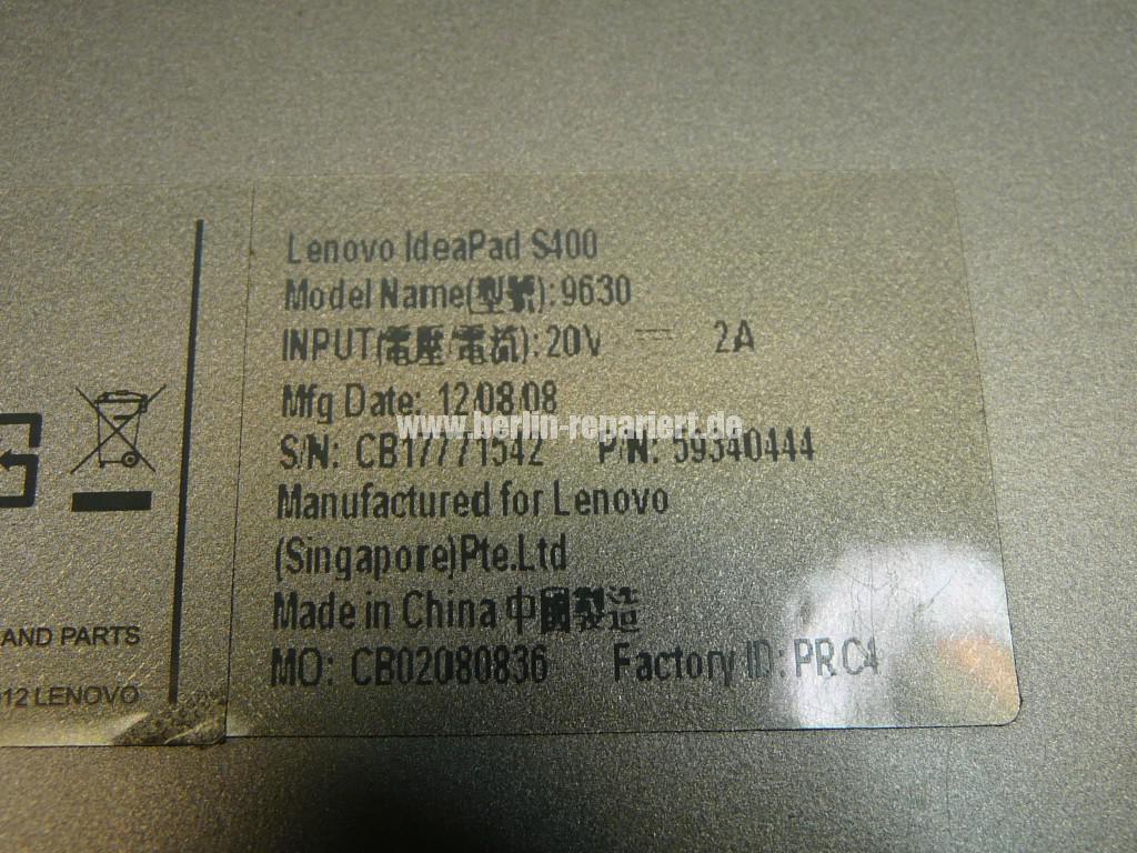 Lenovo S400, Display wackelt (6)