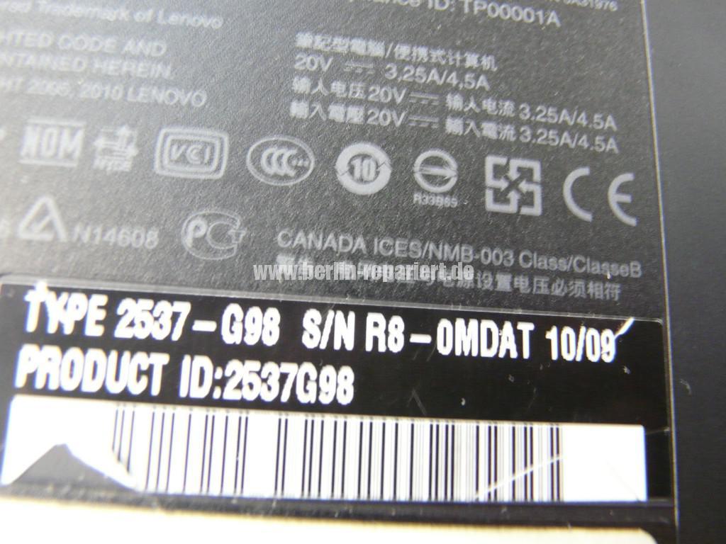 Lenovo ThinkPad T410, Fan Error (16)