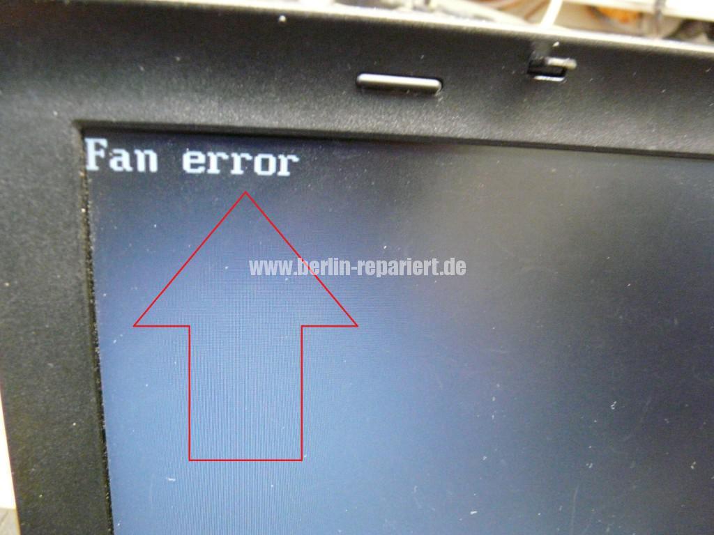 Lenovo ThinkPad T410, Fan Error (2)
