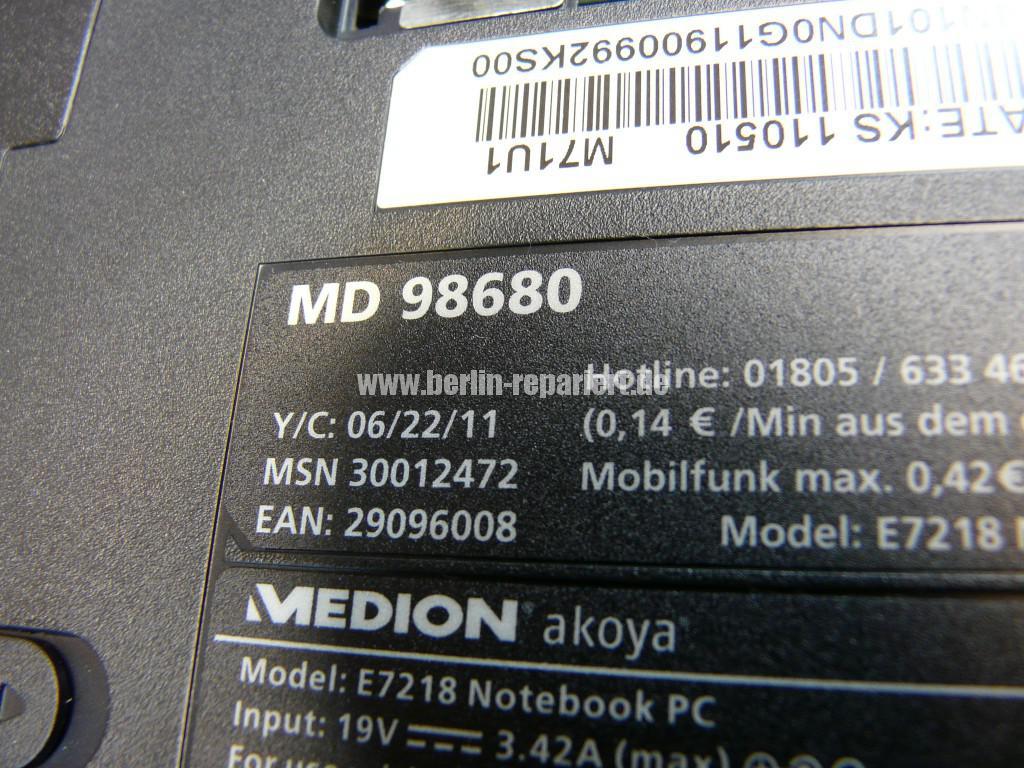 Medion MD98680, Startet nicht, nur der Zeiger noch da (5)