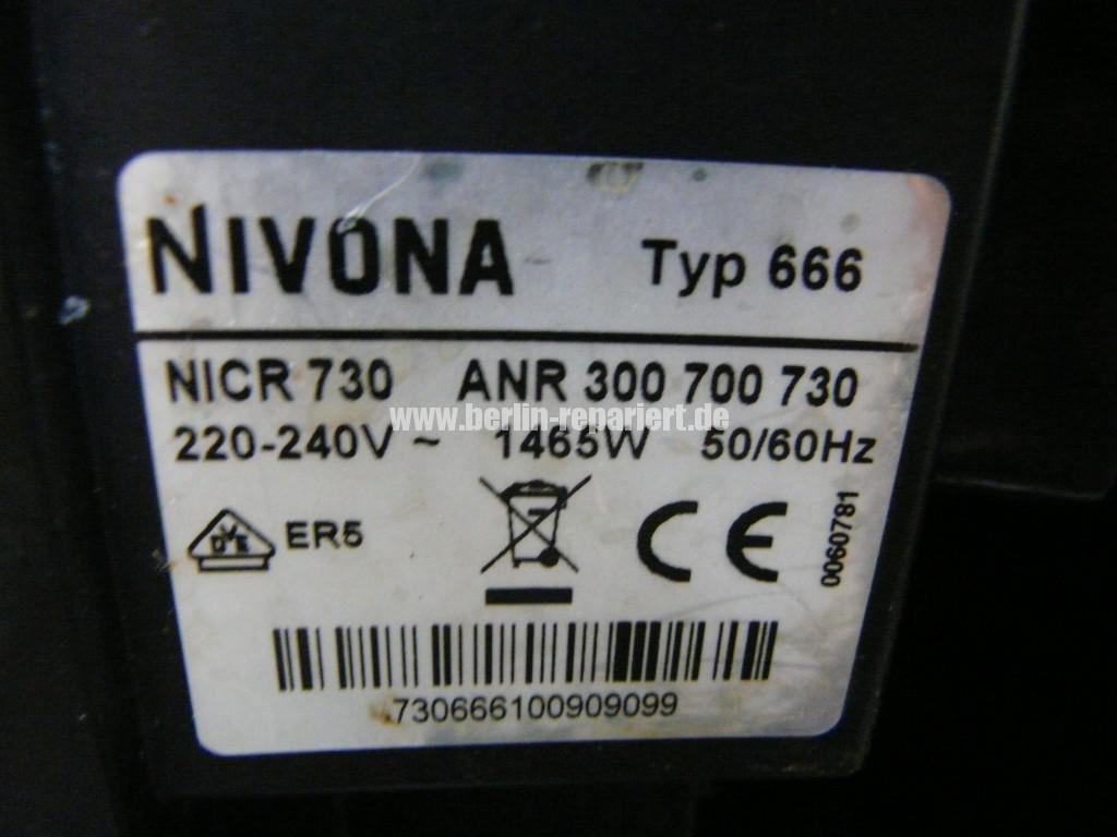 Nivona NICR730, Störung (4)