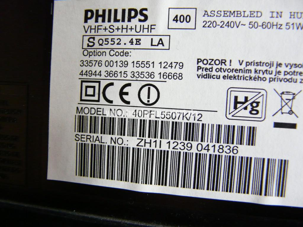 Philips 40PFL5507K, geht nicht an, keine Funktion (8)