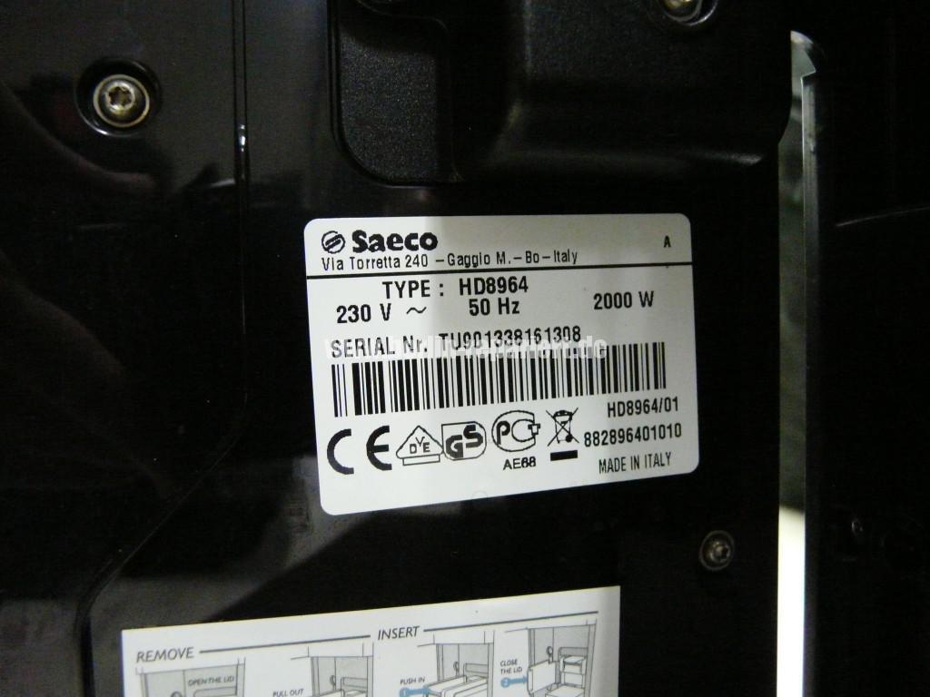 Saeco Gran Baristo HD8964, Trester fehlt (4)