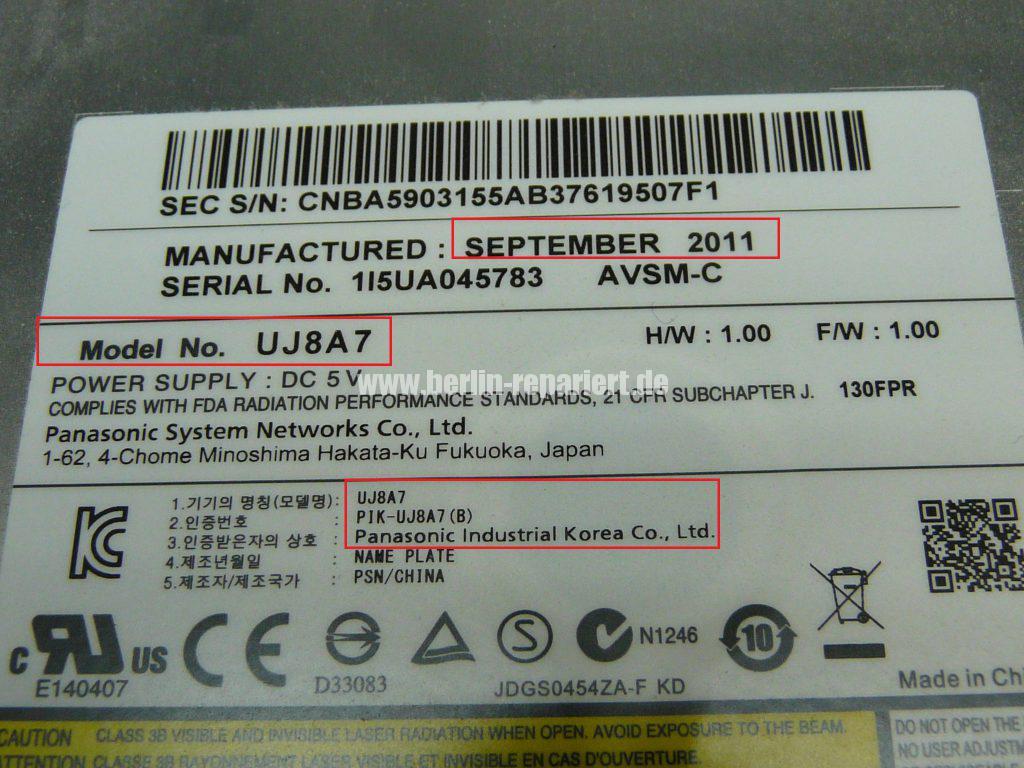 Samsung NP700Z3A, DVD Laufwerk defekt (6)