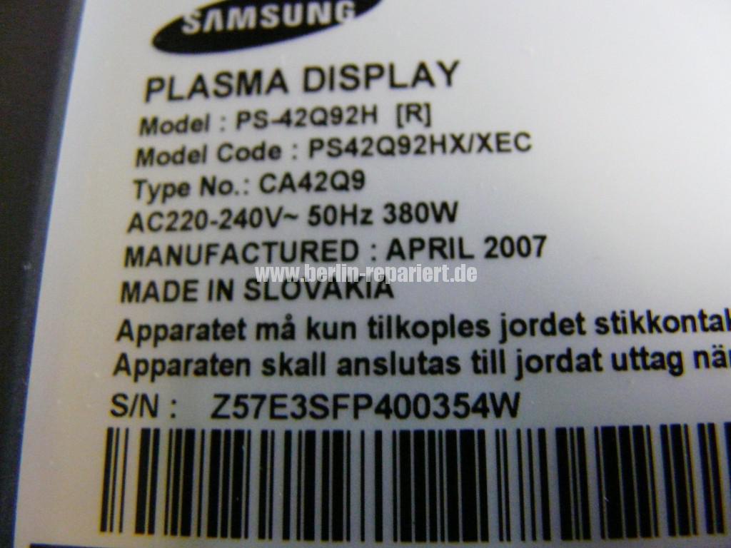 Samsung PS42Q92H, geht nicht An klickt nur (11)