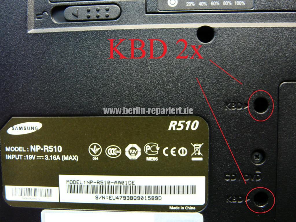 Samsung R510, einzeln Tasten defekt (3)