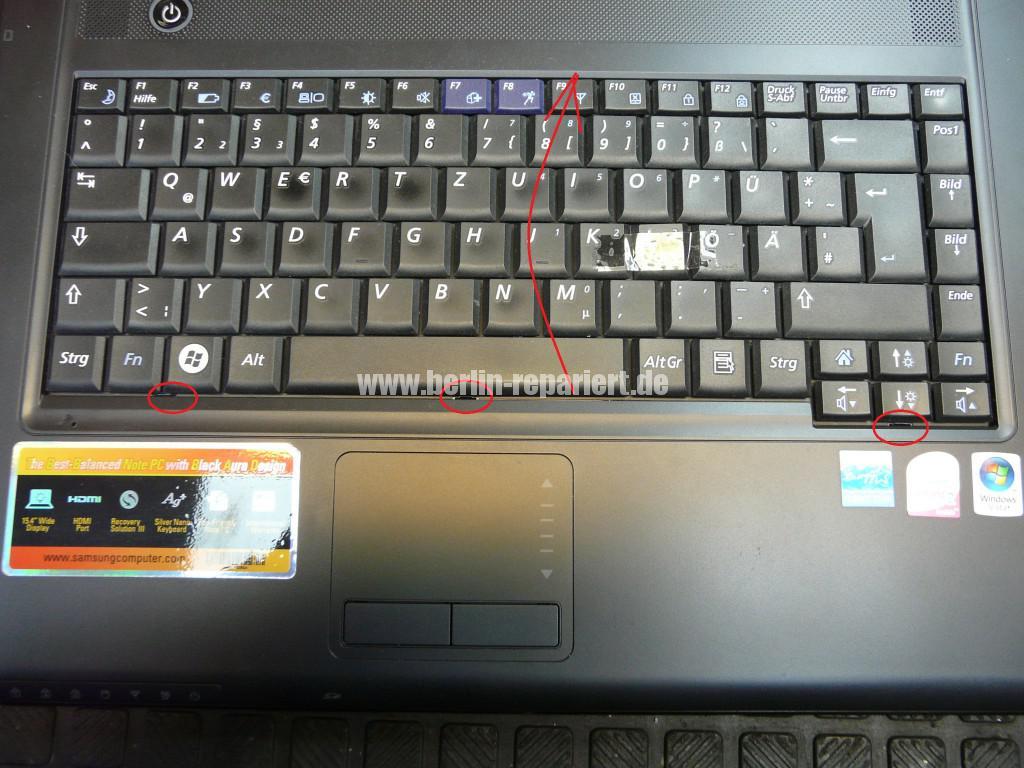 Samsung R510, einzeln Tasten defekt (4)