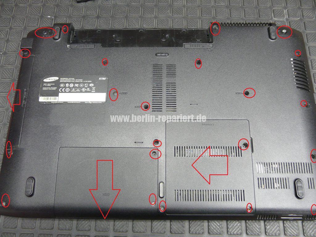 Samsung R780, Netzbuchse defekt (2)