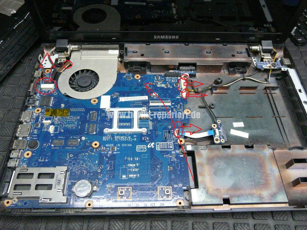 Samsung R780, Netzbuchse defekt (6)
