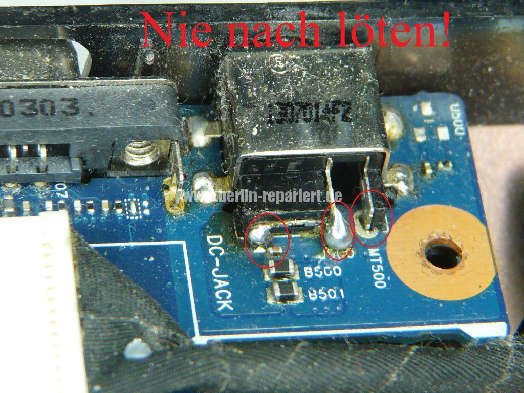Samsung R780, Netzbuchse defekt (7)