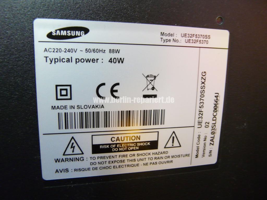Samsung UE32F5370, kein Bild nur Ton (8)