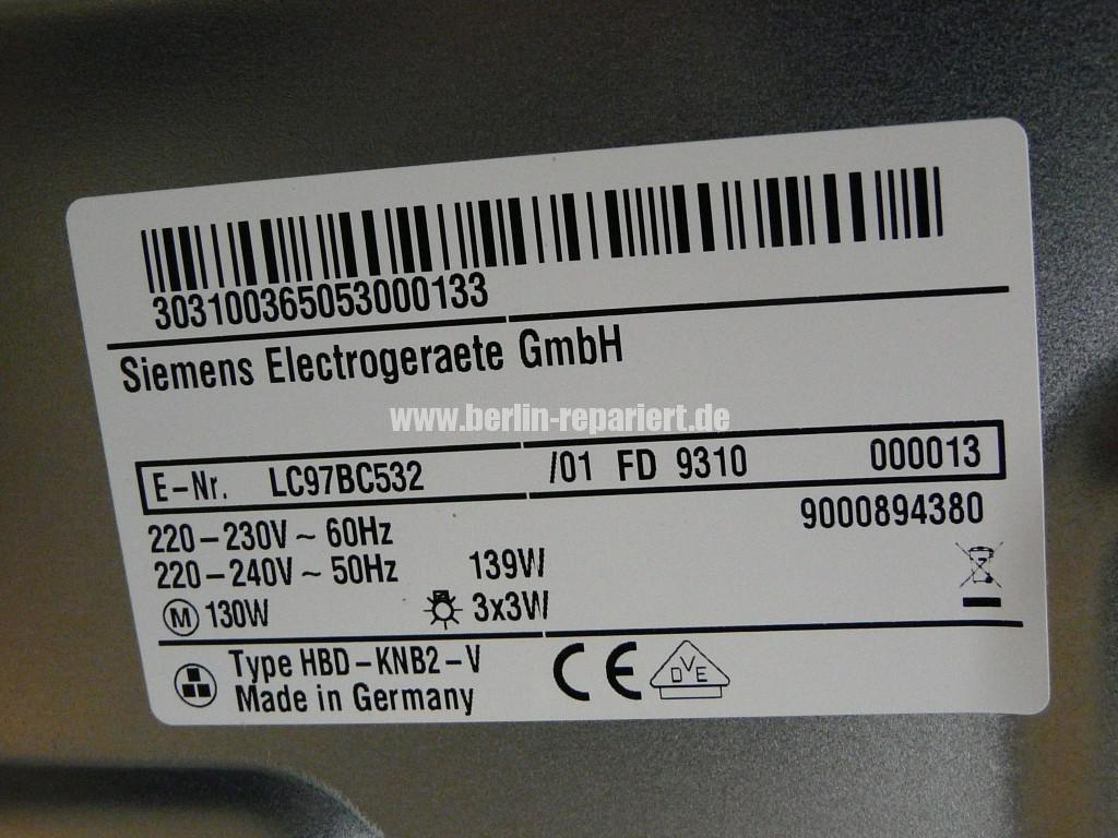 Siemens HBD-KNB2, Motor dreht nicht (5)