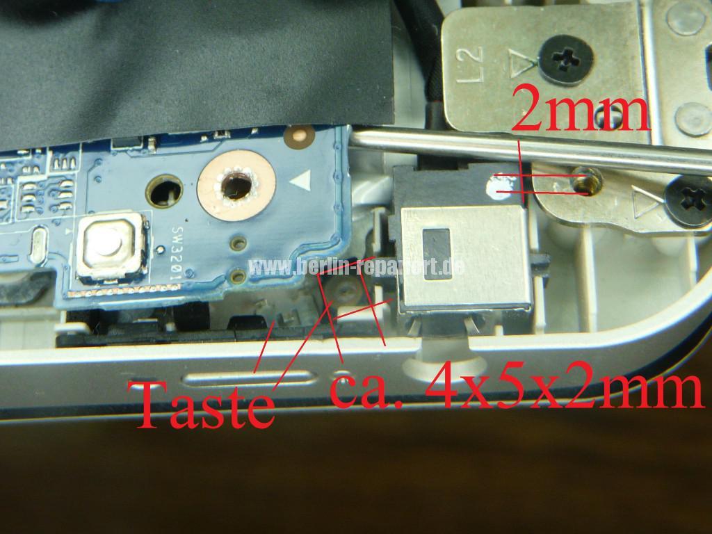 Toshiba Qualität L10W, Powertaste defekt (4)