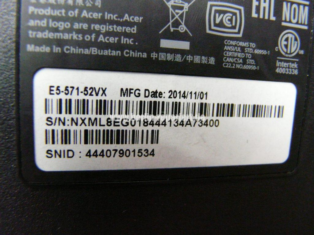 ACER E5-571, kein Bild (7)