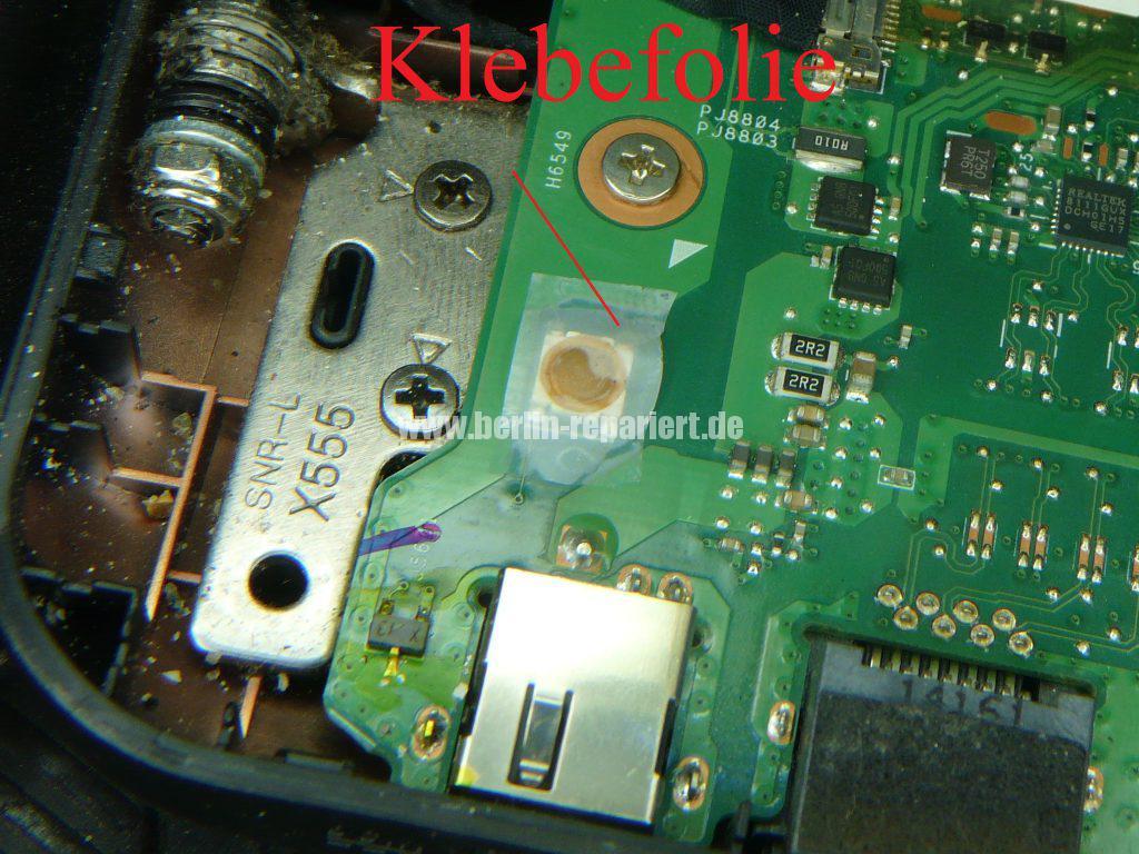 ASUS F555, geht schwer an, Power Taste defekt (10)
