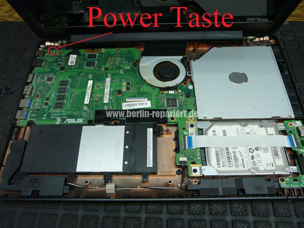 ASUS F555, geht schwer an, Power Taste defekt (3)