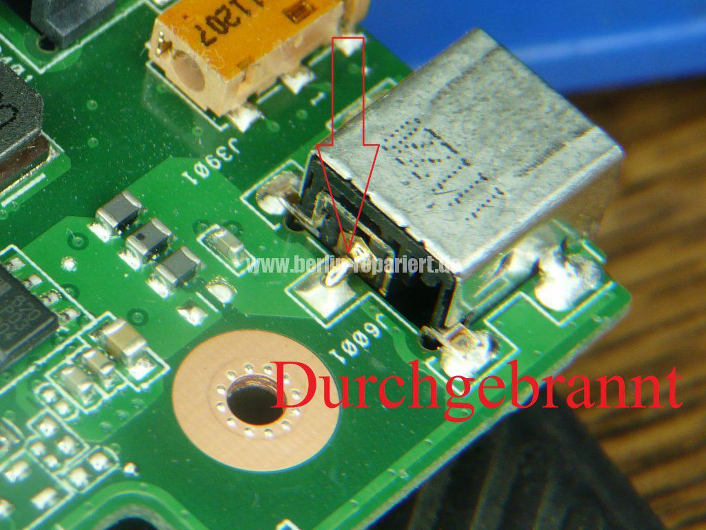 ASUS N75S, geht nicht an, Netzbuchse defekt (15)
