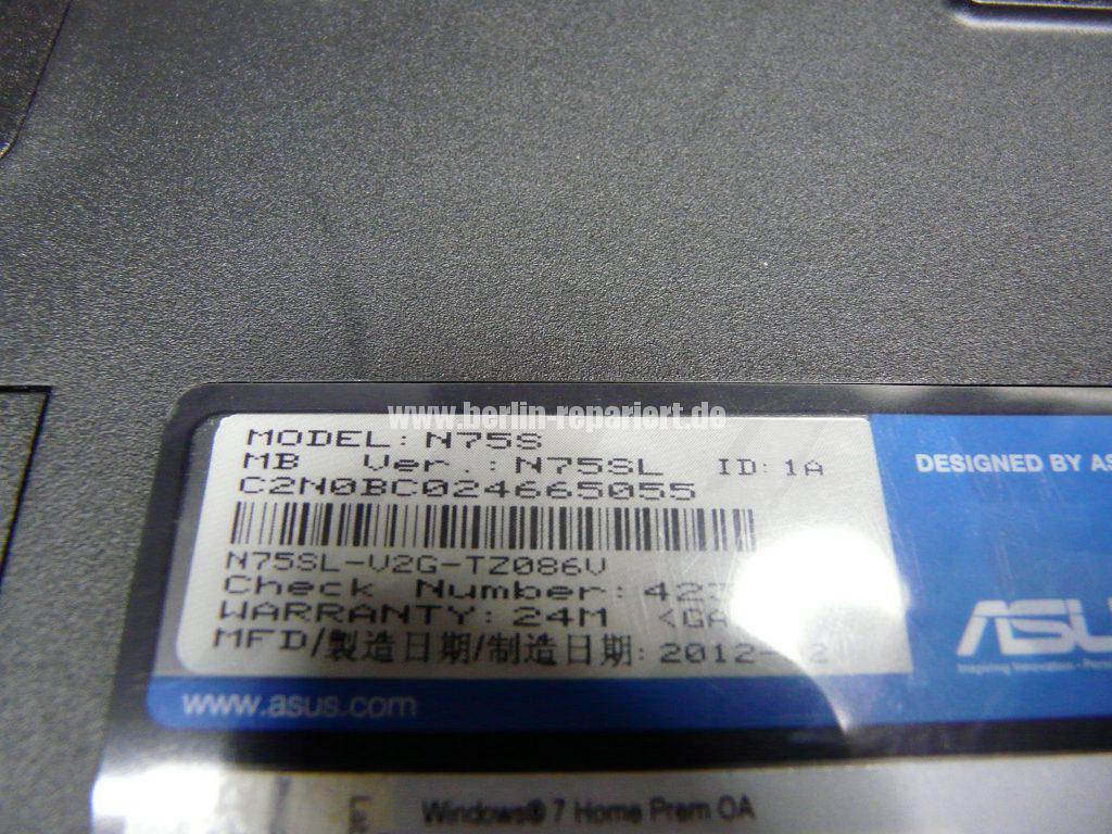 ASUS N75S, geht nicht an, Netzbuchse defekt (19)