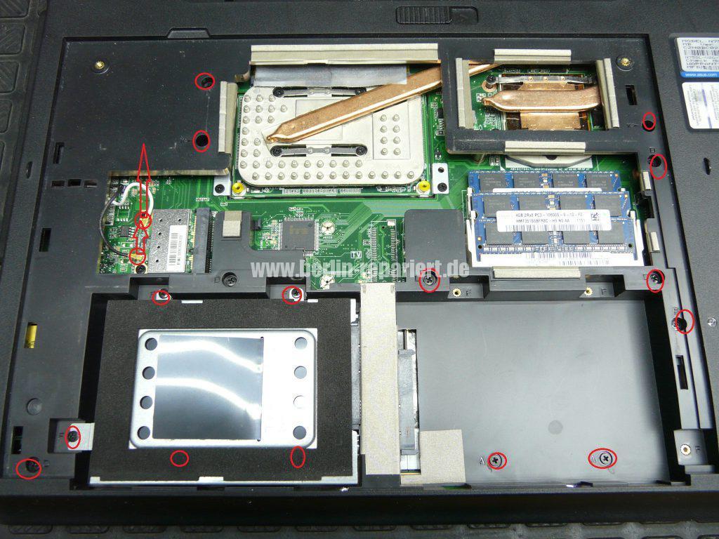 ASUS N75S, geht nicht an, Netzbuchse defekt (3)