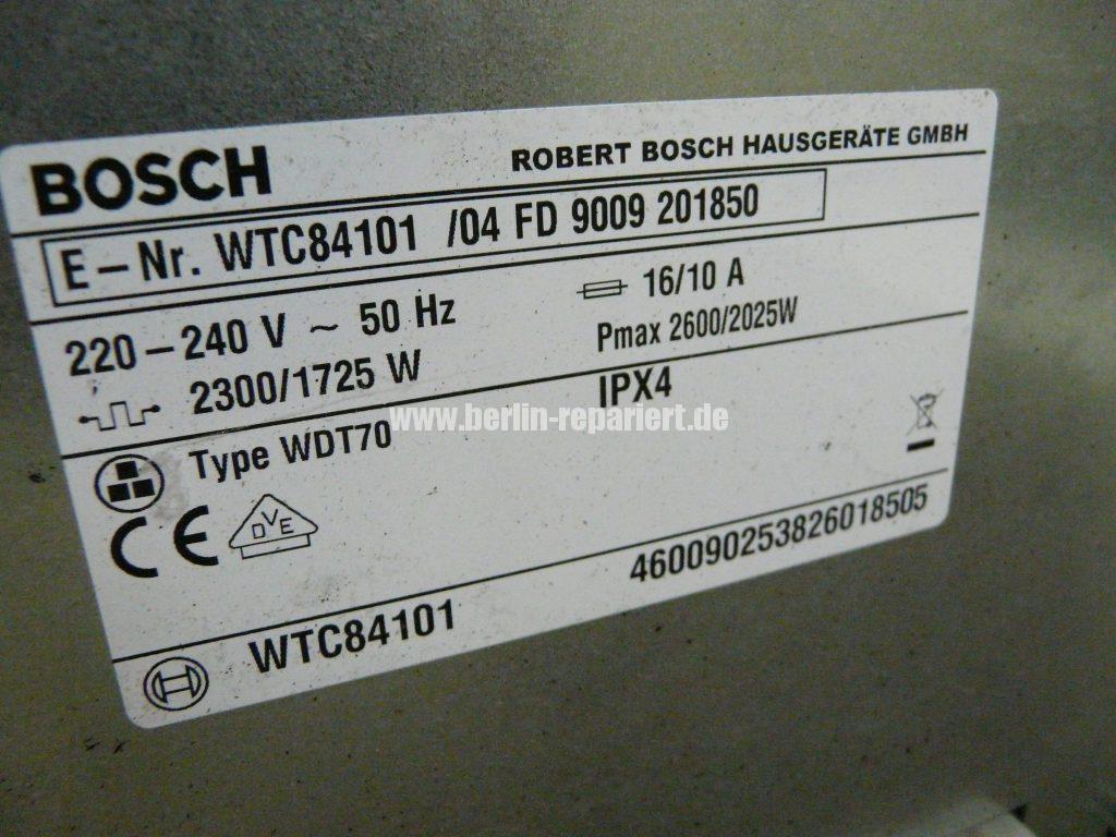 Bosch Classixx 7 WTC84101, Trommel dreht nicht, (8)