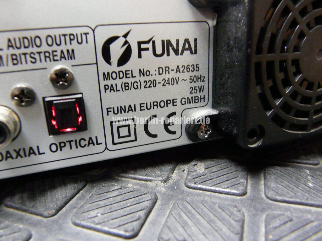Funai DR-A2635, DVD geht nicht raus (7)