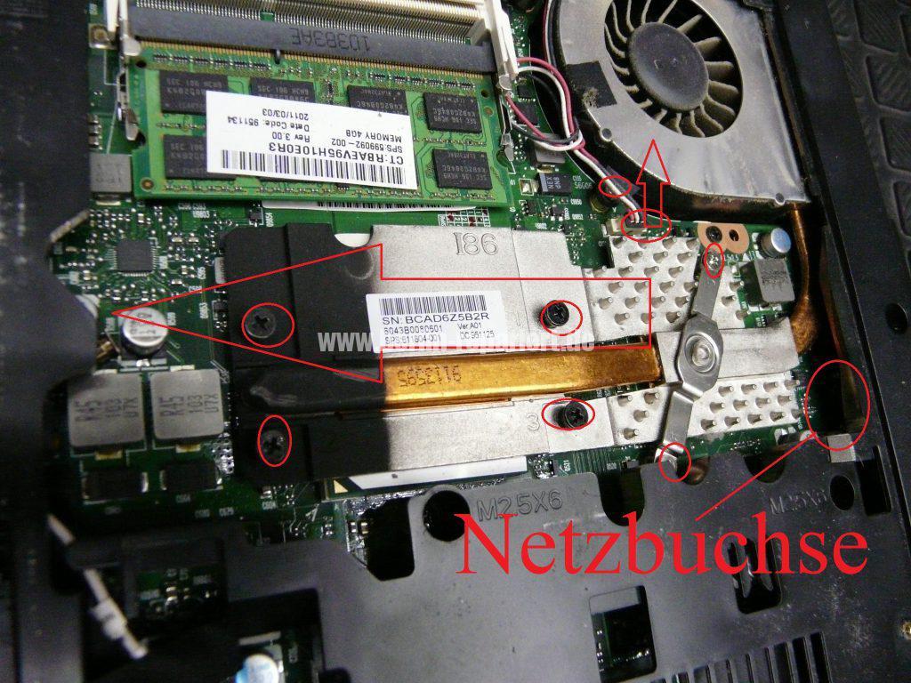 HP 625, Netzbuchse defekt (4)