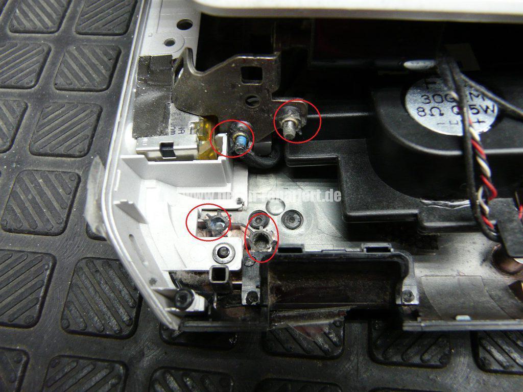 HP Envi DV 7, Scharniere locker, Display wackelt (5)