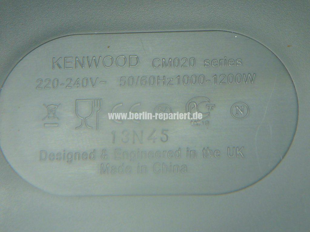 Kenwood CM020, macht kein Kaffee (8)