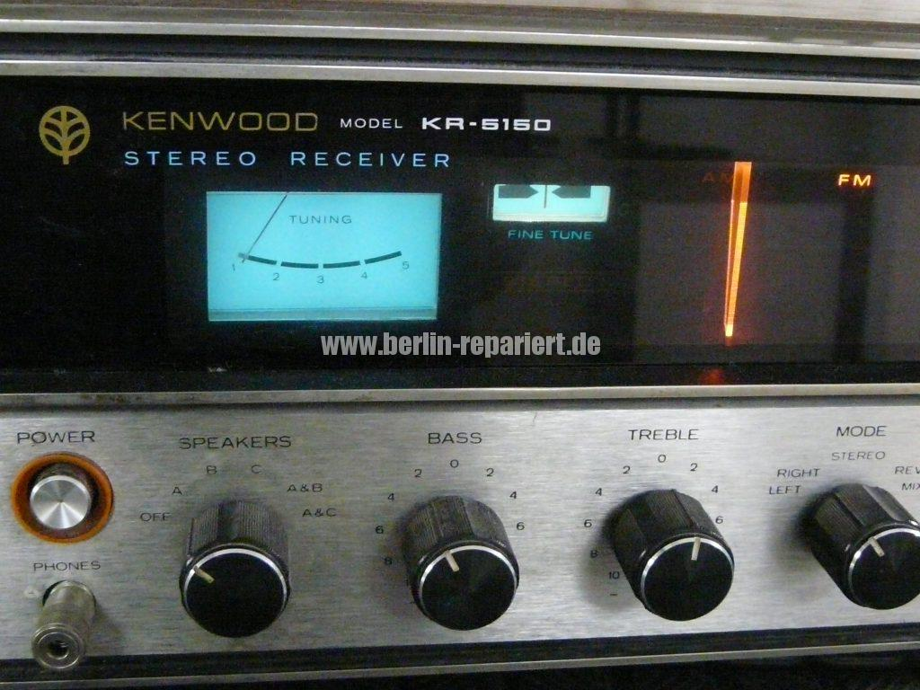 Kenwood KR-5150, Skalenlampen durchgebrannt (4)