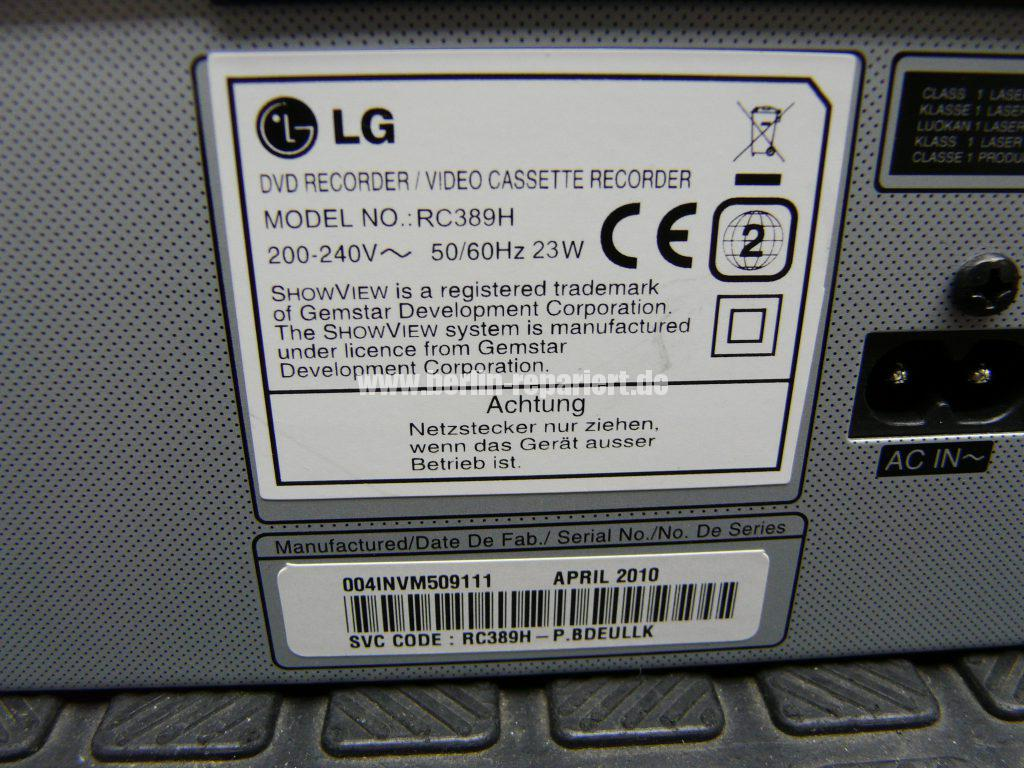 LG RC389H, zeigt nur Hello in Display an (6)