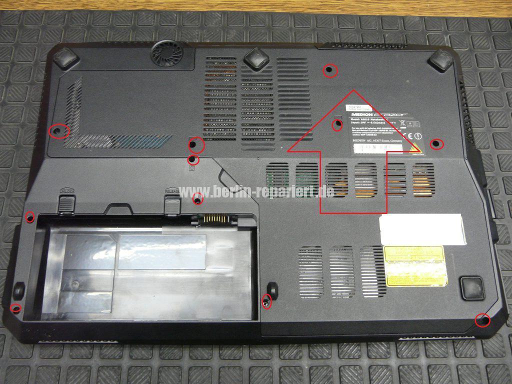 Medion Erazer X6819, Netzbuchse durchgebrannt (2)