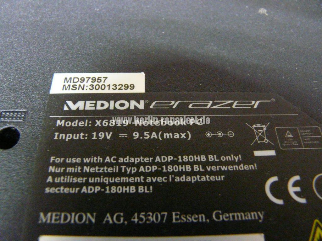 Medion Erazer X6819, Netzbuchse durchgebrannt (27)